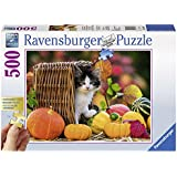 Ravensburger 13603 - Kätzchen im Herbst, 500-Teilig Puzzle