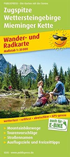 Zugspitze - Wettersteingebirge - Mieminger Kette: Wander- und Radkarte mit Ausflugszielen & Freizeittipps, wetterfest, reißfest, abwischbar, GPS-genau. 1:35000 (Wander- und Radkarte / WuRK)