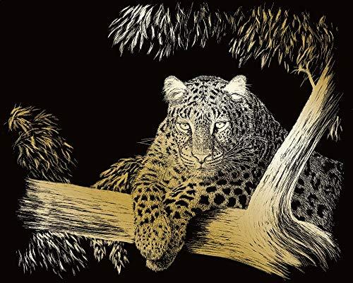 uring Kratzbild-Set Gepard, ca. 25 x 20 cm, inkl. Kratzmesser ()