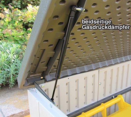 Lifetime XXL Kunststoff Mülltonnenbox, Gerätebox, Aufbewahrungsbox // BxTxH 190x108x132cm // Gartengerätebox für Mülltonnen - 5