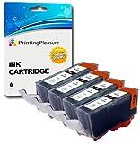 4 Schwarz Druckerpatronen für Canon Pixma iP3600, iP3680, iP4600, iP4680, iP4700, MP540, MP540x, MP550, MP560, MP620, MP620b, MP630, MP640, MP980, MP990, MX860, MX870 | Kompatibel zu PGI-520BK