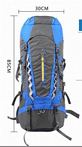 Outdoor-BergsteigenTascheWandernRucksackMännerundFrauenreisenwasserdichtencampingRucksack(70L), grün black