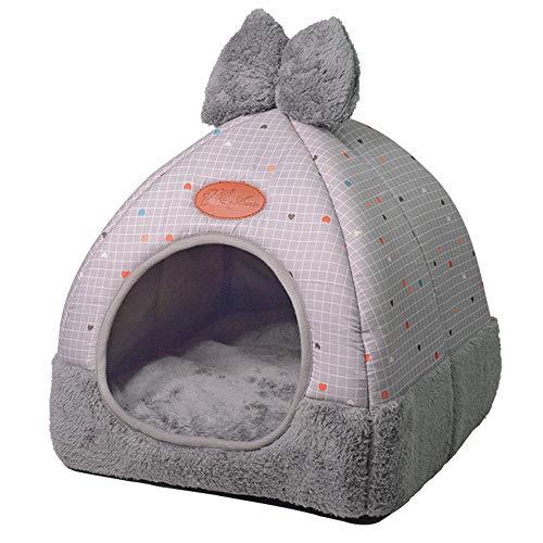 Saingace(TM) Katzenhöhle Hundebett Hundekörbchen, Haustier Hund Katze Zelt Haus Zwinger Winter Warmes Nest Weiche Faltbare Schlafmatte