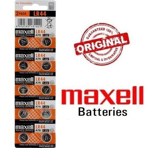 Blister Original De 10x Pilas De Boton Maxell V LR44
