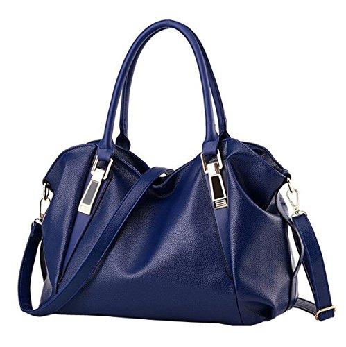 Pacchetto Ms. Borse Moda Borsa Morbida Spalla Del Messaggero Borsa Del Computer Portatile Bag Busta Polso Sacchetto Di Svago Blue