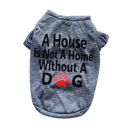 59fa6829db4 Provide The Best Letters Dog Top Solid Blouse T-Shirt Puppy Pet Dog Summer  Spring