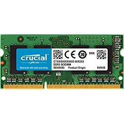 Crucial RAM 8 GB, DDR3L, 1600 MT/s, PC3L-12800 SODIMM, 204-Pin