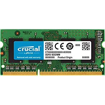Crucial 4Go DDR3L 1600 MT/s (PC3L-12800) SR SODIMM 204-Pin - CT51264BF160BJ