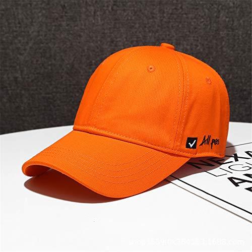 zhuzhuwen 2019 Neue einfache Hut koreanische Version des Softtops einfarbig Baseballmütze Männer und Frauen Casual Side Letter Schatten Kappe 3 56-62cm