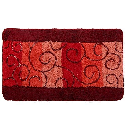 Textiles Universels Tapis de Bain (90cm x 55cm) (Rouge)
