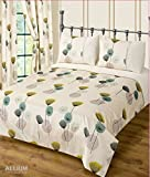 Double Bed Allium / Dandelion Teal Duvet Cover Modern Bedding Set