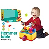 Pinball Hammer Table Ball Pounding Toy Play 8944482751581set 6 Multi Color Balls, Toy Hammer With Sound