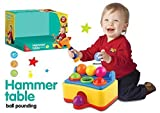 #4: Pinball Hammer Table Ball Pounding Toy Play 8944482751581set 6 Multi Color Balls, Toy Hammer with Sound