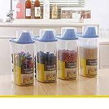 Luftdicht Getreide Körner [speicher jar] Hausgebrauch Lebensmittel Pufferspeicher Kunststoff Luftdicht Küche Speicher-box4Eine]-G