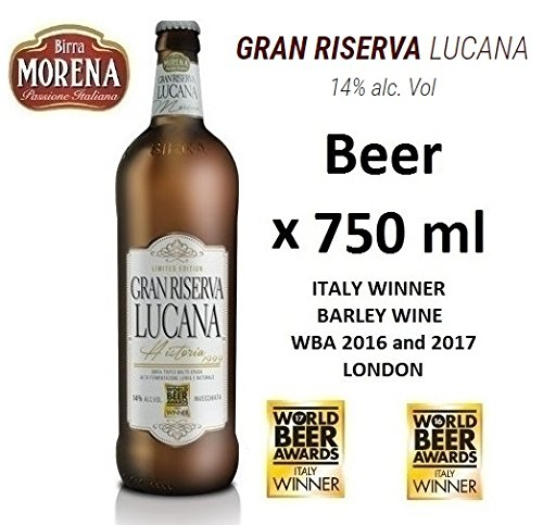 Birra Morena Gran Riserva Lucana 14 % alc vol - ml 750 - Barley Wine - Artigianale - Craft Beer - Italian Beer - Award -Best Gift Events Christmas Easter.