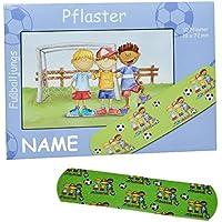 Unbekannt 10 Kinderpflaster im Nachfüllpack mit Fußball - Motiv incl. Name - Pflaster für Kinder und Erwachsene... preisvergleich bei billige-tabletten.eu