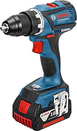 Bosch Professional Akkuschrauber GSR 18 V-EC (2x 4,0 Ah Akku, Schnellladegerät, L-BOXX, 18 Volt, max. Drehmoment: 60 Nm, max. Schrauben-Ø: 10 mm)