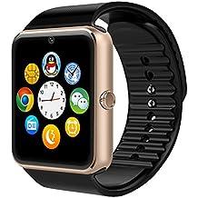 AsiaLONG Sport Smartwatch Bluetooth Smart Uhr Watch Fitnessarmband mit 1.54 Zoll Display / SIM Kartenslot / Schrittzähler / Schlafanalyse / SMS Facebook Vibration für Android Smartphone