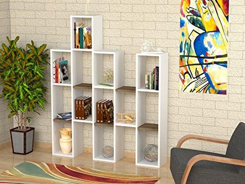 Scaffali Ufficio Design : Jona libreria bianco noce scaffale per libri scaffale per