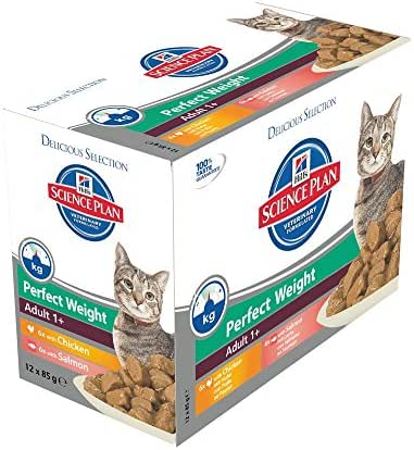 Hill's : Multipack Chat Adulte Perfect Weight : 12x85g
