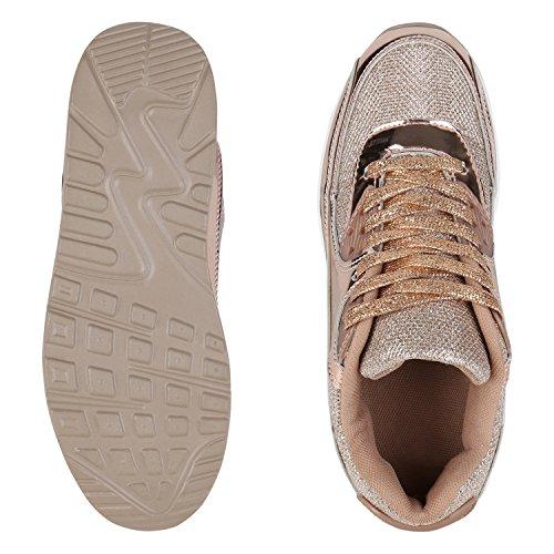 napoli-fashion , Chaussures de sport d'extérieur pour homme Bronze Gold