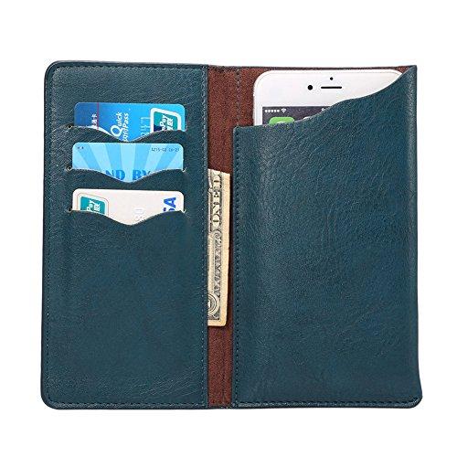 KM-WEN® PU Leder Elefant Muster Wallet Case Schutzhülle Tasche Hängende Taille Handy Hülle für iPhone 6s plus / iPhone 6 plus, Samsung Galaxy A8/ S6 edge+ / Note 4 / Note 5, Huawei P8 / Honor 7i and A Dunkelgrün-2