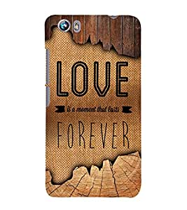 Love Forever 3D Hard Polycarbonate Designer Back Case Cover for Micromax Canvas Fire 4 A107