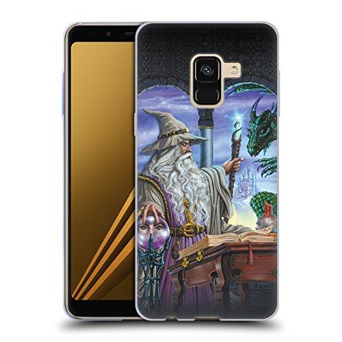 Offizielle Ed Beard Jr Botschafter Drachen Von Dem Zauberer Fantasie Soft Gel Hülle für Samsung Galaxy A8 Plus (2018)