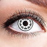 Colores Contacto Diseño de lente Lente Sin grosor con diseño FUN lente para Halloween Carnaval Fiesta Cosplay Disfraz Black White Horror Eye