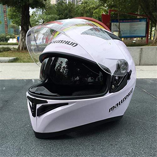 SHelterziyi ABS-Harz-Motorrad-Integralhelm Stilvoller Dual-Lens-Rennhelm Design 11 L
