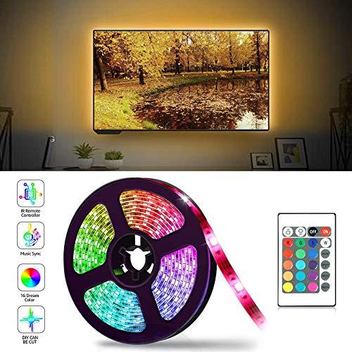 Led TV Hintergrundbeleuchtung, 2M USB Led Beleuchtung Hintergrundbeleuchtung Fernseher USB für 40 bis 60 Zoll HDTV,TV-Bildschirm und Küchenschrank Wandschrank Zimmer Deko,Led - Machen Sie Ihre Eigenen Kostüm Spiele