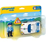 Playmobil 1.2.3 - 6797 - Figurine - Policier Et Voiture
