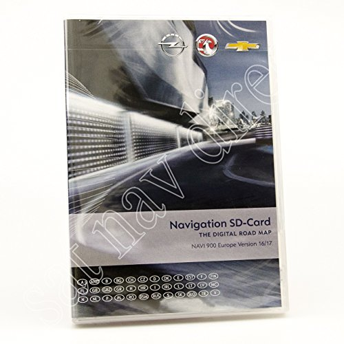 VAUXHALL/OPEL CHEVROLET NAVIGATION SD CARD MAP EUROPE 2016-2017WEST NAVI 900/600
