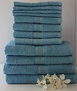 12 tlg. Handtuchset in Hellblau, 2xBadetücher, 2xDuschtücher, 4xHandtücher, 4x Gästetücher
