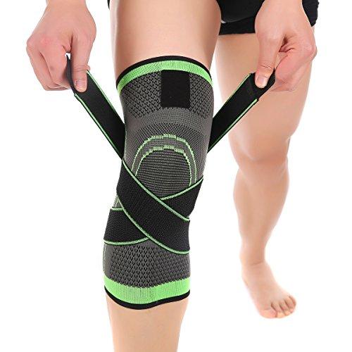 Surenhap Kniebandage Kompression, Knie-Unterstützung Knieschoner mit verstellbarem Gurt für Schmerzlinderung, Meniskusriss, Arthritis, schnelle Erholung Knieorthese für Lauf Sport - XXL (Arthritis Für Knieorthese Xxl)