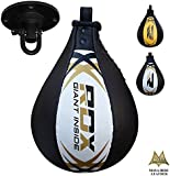 RDX Leather Boxing Speed Bag MMA Ball Swivel Punching Workout Training