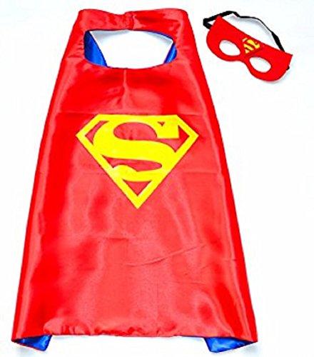 Mr Gadget Solutions® Premium Qualität Super Maske und Umhang Kostüm Set für Kinder (Super Man)