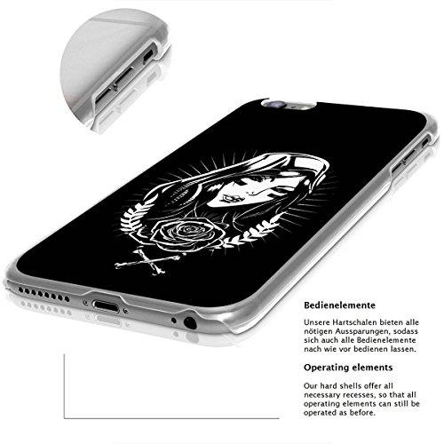 finoo | iPhone 6 Plus / 6S Plus Hard Case Handy-Hülle mit Motiv | dünne stoßfeste Schutz-Cover Tasche in Premium Qualität | Premium Case für Dein Smartphone| Weißer Marmor Cool girl