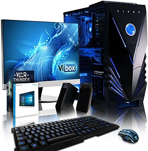 VIBOX Complete Komplett-PC Paket 9 Gaming PC - 4,2GHz Intel i5 Quad Core CPU, RX 460 GPU, leistungsfähig, Desktop Gamer Computer mit Spielgutschein, 23