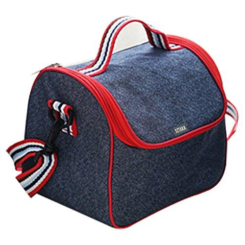 SZTARA portátil térmico aislado almuerzo bolso de hombro bolsa de moda al aire libre enfriador de botella de aislamiento bolso fresco/caliente caso leche hielo organizador para senderismo Picnic Camping, Color Azul
