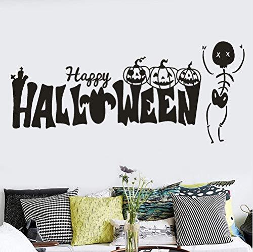(asd137588 Happy Halloween Kürbis Knochen Wandaufkleber Fenster Dekoration Aufkleber Aufkleber Home Decor Abnehmbare Aufkleber Vinyl Aufkleber)