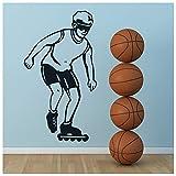 azutura Inliner fahren Wandtattoo Sport & Hobby Wand Sticker Fitness Wohnkultur verfügbar in 5 Größen und 25 Farben X-Groß Türkis