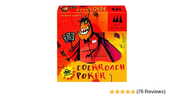 Coiledspring Games Three Magicians Cockroach Poker Card Game Orange