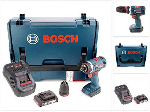 Preisvergleich Produktbild Bosch GSR 18 V-EC FC2 Akku Bohrschrauber in L-Boxx mit GAL 1880 Ladegerät und 1x GBA 2 Ah Akku und Bohrfutter GFA FC2