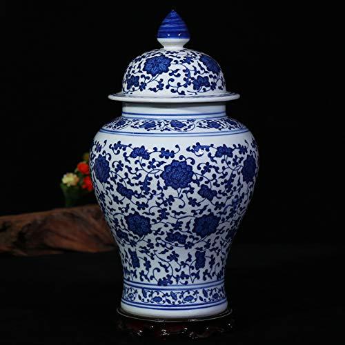 Vase Antiguo Porcelana Azul Y Blanca Jarrón Forliving Sala,Tradicional Porcelana Cerámica Jarrón...