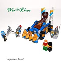 Ingenious Toys® War of the Elves - knights trebuchet launcher - compatible building blocks set #B304