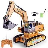 TianranRT Auto Bagger Bauen LKW Crawler Bagger Elektrisch Spielzeug Fernbedienung