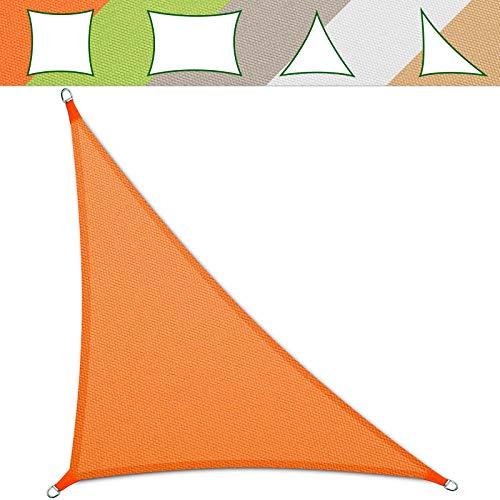 casa pura® Sonnensegel wasserabweisend imprägniert   Testnote 1.4   Dreieck   UV Schutz Größen (orange, 3,6 x 3,6 x 5,1 m)