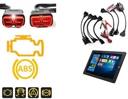 "Multi Diagnosegerät OBD2 Tiefendiagnose alle PKW mit Adaptersatz Bluetooth inkl. 8\"" Tablet PC"