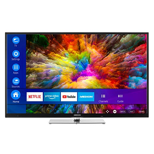 MEDION X14305 108 cm (43 Zoll) UHD Fernseher (Smart-TV, 4K Ultra HD, Dolby Vision HDR, Netflix, Prime Video, WLAN, HD Triple Tuner, DTS Sound, PVR, Bluetooth) Series Led Hdtv